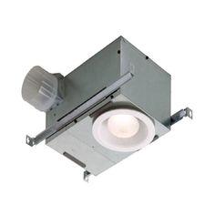 Broan 1.5-Sone 70-CFM White Bathroom Fan with Light