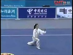 She ist the best !!!  Asian Games 2010 - Taiji Quan - Chai Fong Ying - Gold Medal  |  Not exactly certain of the style. The fast/slow would suggest it may be Chen based.