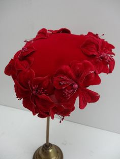 50's Half Hat. Poppy Red. by PepperLaneExclusives on Etsy, $100.00
