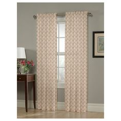 "Olivia Window Curtain Panel Gold (54""x108"") - Homewear"