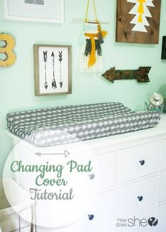Changing Pad Cover Tutorial ~ http://www.howdoesshe.com/cover-me-quick-changing-pad-cover-tutorial/