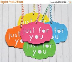 Off Christmas Sale Just For You Gift by ColourscapeStudios Etsy Christmas, Great Christmas Gifts, Christmas In July, Christmas Ornaments, It's Your Birthday, Birthday Parties, Party Gifts, Gift Tags, Etsy Seller