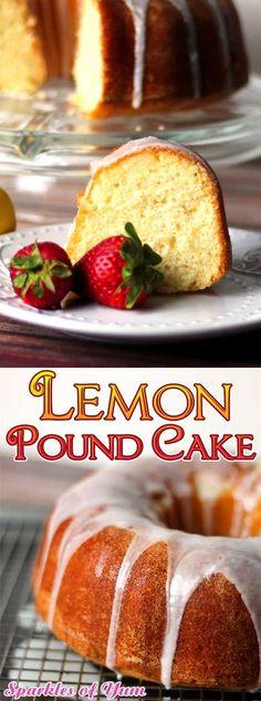 This Lemon Pound Cake is a Lemon lover's delight! It is the most lemony, deliciousness, moist cake I've ever had. #cake #dessert #lemon #spring #baking via @sparklesofyum Lemon Dessert Recipes, Homemade Cake Recipes, Pound Cake Recipes, Lemon Recipes, Cupcake Recipes, Yummy Recipes, The Joy Of Baking, Cake Recipes From Scratch, Moist Cakes
