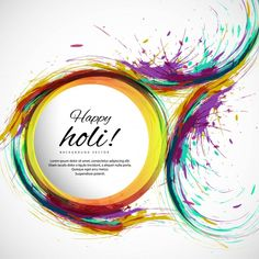 Background with circular shapes and watercolors for holi Free Vector Happy Holi Quotes, Happy Holi Images, Happy Holi Wishes, Black Background Images, Paper Background, Happy Holi Picture, Happy Holi Wallpaper, Holi Pictures, Good Day Wishes