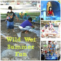 Hot summer fun wild wet fun.