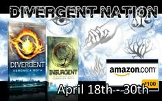 #TeamAbnegation Amazon Gift Code Giveaway - April 18th to 30th