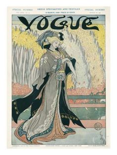 Vogue Cover - March 1908 Regular Giclee Print