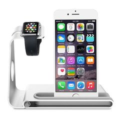 The Aluminum Apple Watch Charging Stand with iPhone Holder