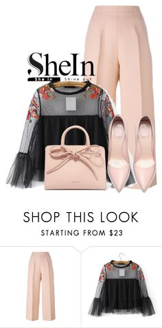 """shein"" by edvineee ❤ liked on Polyvore featuring Fendi, WithChic and Mansur Gavriel"
