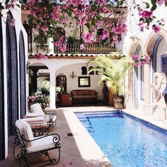 Spanish style homes – Mediterranean Home Decor Hacienda Style Homes, Spanish Style Homes, Spanish Colonial, Spanish Revival, Spanish House Design, Spanish Style Interiors, Mexican Style Homes, Puerto Vallarta, Future House