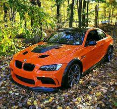 BMW E92 M3 orange fall