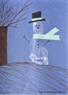 You'll have painted feed and fun snowman artwork after this craft project.