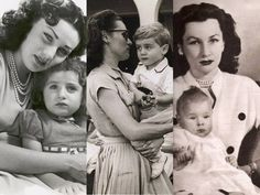 Princess Fawzia and her children: princess Shahinaz, prince Hussein, and princess Nadia Royal Princess, Prince And Princess, Fawzia Fuad Of Egypt, Arab Celebrities, Celebs, Pahlavi Dynasty, African Royalty, Old Egypt, Young Prince