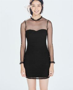 Image 2 of EMBROIDERED BODYCON DRESS from Zara