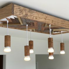 Farmhouse Kitchen Chandelier Shabby Chic Reclaimed Wood | Etsy