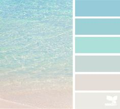 { crystal clear } -- from Fresh Hues blog, 21may2014 (for the beach home) vacation home...