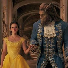 It felt normal to be walking with the Beast. And when he started to lead her into the dining room, it was her decision to turn to the ballroom instead (Beauty and the Beast, filmed Dan Stevens and Emma Watson. Beauty And The Beast Costume, Beauty And The Beast Movie, Emma Watson Beauty And The Beast, Disney Live, Walt Disney, Sam E Cat, Beauty And The Beast Wallpaper, Belle And Beast, Princess Movies