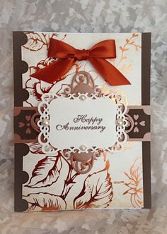 Anniversary Card, Fancy, Filigree, Vintage,Floral Greeting Card, Luxury Greeting Card, Unique Card