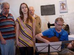 Jos en Wendy van Dooren muzikanten 2e uur Kunst - O - Foon Cultureel Lint, brengen sonnet van Paul Sterk.