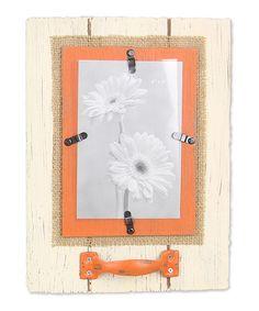 Love this Orange Wood Tab Frame on #zulily! #zulilyfinds