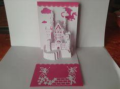 kirigami carte chateau de princesse