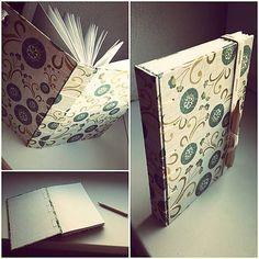 ardeas / fresh book (medium - A6) / handmade / bookbinding / belgian binding/ green white / sketchbook / journal