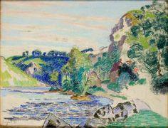 GUILLAUMIN Armand - La Creuse à Crozant - dessin - fin 19eme
