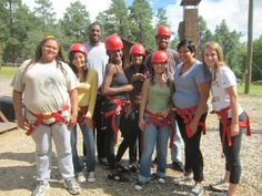 Arizona Allies celebrate a great day on the high ropes.