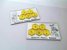 Medabots Metabee Medals  Kabuto Set Laser Cut by ChinookCrafts, $39.99
