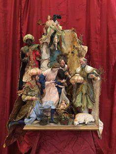 Nativita Neapolitan creche crib mager Madonna Presepe Napoletano scoglio