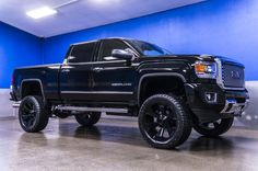 Used 2015 GMC Sierra 2500 Denali with miles at Northwest Motorsport in Puyallup, WA. Buy a used Black GMC Sierra. Jacked Up Trucks, Gm Trucks, Cool Trucks, Chevy Trucks, Pickup Trucks, Jeep Truck, Denali Hd, Gmc Denali, Denali Truck