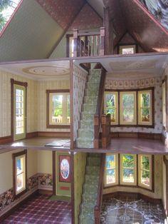 victorian dollhouses | Dollhouses by Robin Carey: New Gothic Victorian Dollhouse