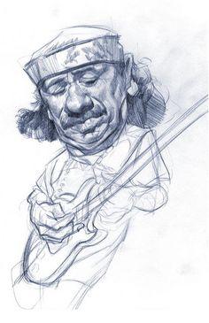 [ Carlos Santana ] - artist: Wouter Tulp