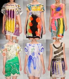 color + pattern - Antoni & Alison, Fashion Week, 2012 - blog post for Contemporary Cloth - Image Source: Fashionising.com