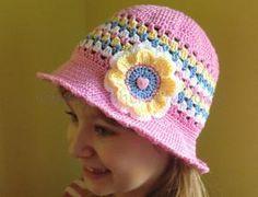 Háčkovaný klobouček,  crochet hat pattern