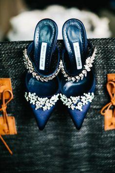 Blue Manolo Blahnik Heels
