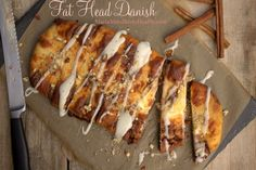 Fat Head Danish -- Like a classic almond breakfast pastry, except made low carb with  surprising crust ingredients, a la the famous Fat Head pizza and other goodies from the Fat Head movie blog.