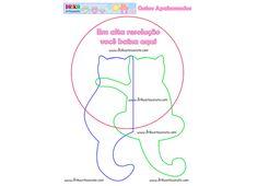 Patchwork Moldes gatinhos namorando   Drika Artesanato - Dicas e sugestões sobre artesanato.