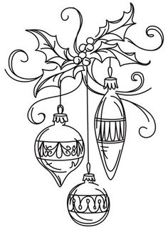 Deck the halls in glamorous style with this ornament embroidery design! Downloads as a PDF. Use pattern transfer paper to trace design for hand-stitching.