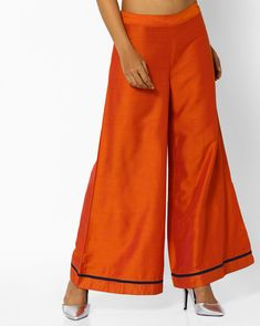 469d876cc107fa AJIO Orange Palazzo Mid-Rise Palazzo Pants Shorts Online, Palazzo Pants,  Pants For