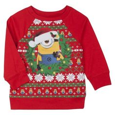 Despicable Me Womens Minion Scarf Christmas Sweater