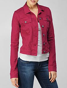 Colored Denim Jacket $49 | Style. | Pinterest | Colored denim ...