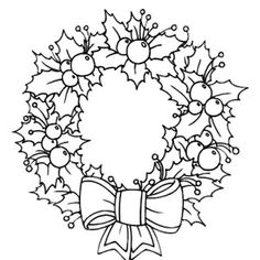 Light Of Candle Shine On Christmas Wreaths Coloring Pages