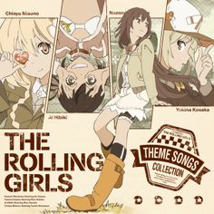 for The Rolling Girls theme songs collection. The rolling girls is a popular anime.Cover for The Rolling Girls theme songs collection. The rolling girls is a popular anime. Graphic Design Posters, Graphic Design Illustration, Design Reference, Drawing Reference, Rolling Girl, Manga Covers, Web Design, Popular Anime, Manga Illustration