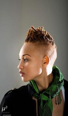 Edgy Natural Hair Tapered | Uploaded to Pinterest