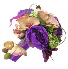 Purple Calla Lily Wedding Bouquet | bridal bouquets bridesmaids flowers wedding buttonholes wedding ...