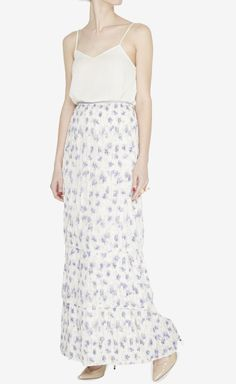 Tory Burch Ivory And Multicolor Skirt//