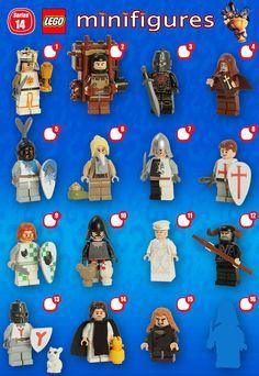 News: Lego unveils Series 14 of Collectible Minifigures . Breaking News: Lego unveils Series 14 of Collectible Minifigures Lego Custom Minifigures, Lego Minifigs, Lego Disney, Lego Batman, Legos, Lego Ritter, Figurine Lego, Lego Knights, Lego Pictures