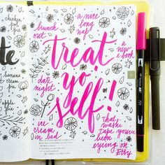 What are some ways you like to treat yo' self?  #letteritjune #journal…