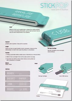 » Future technology devices concept – Portable printer Future technology
